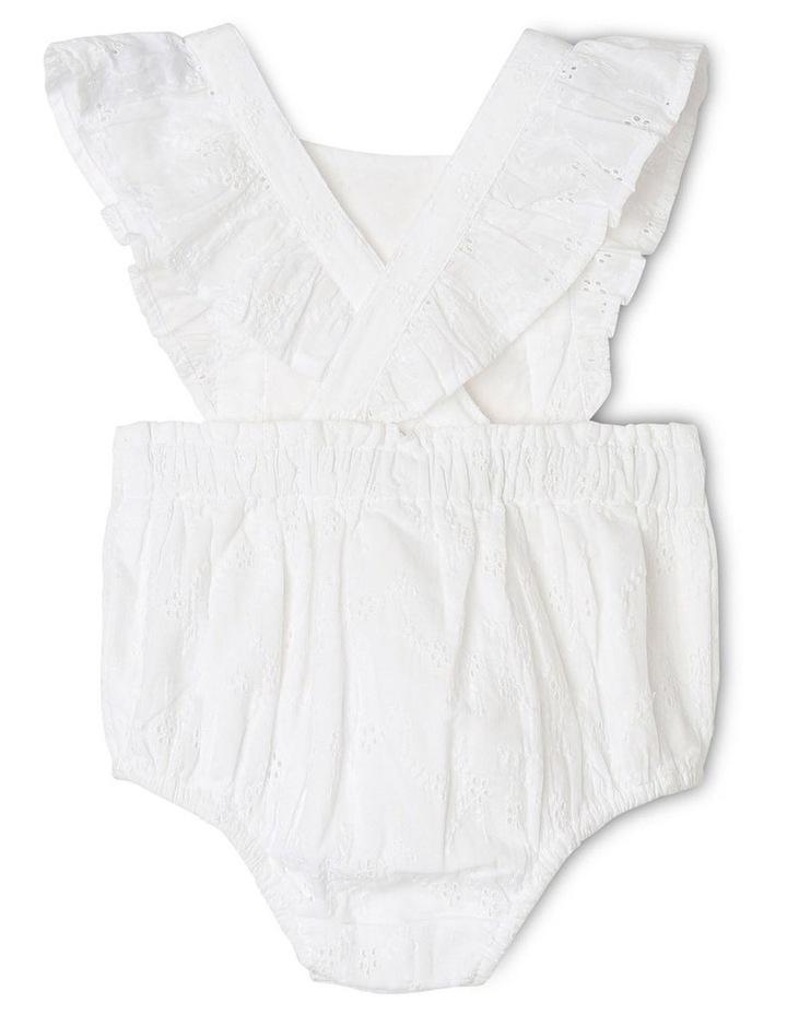 Anna Broderie Bodysuit in White image 3