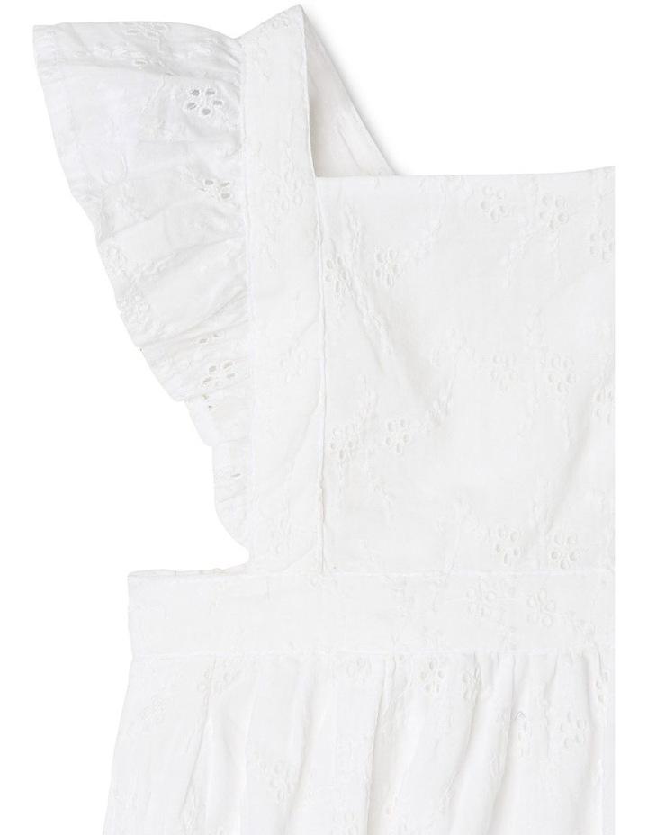Anna Broderie Bodysuit in White image 4