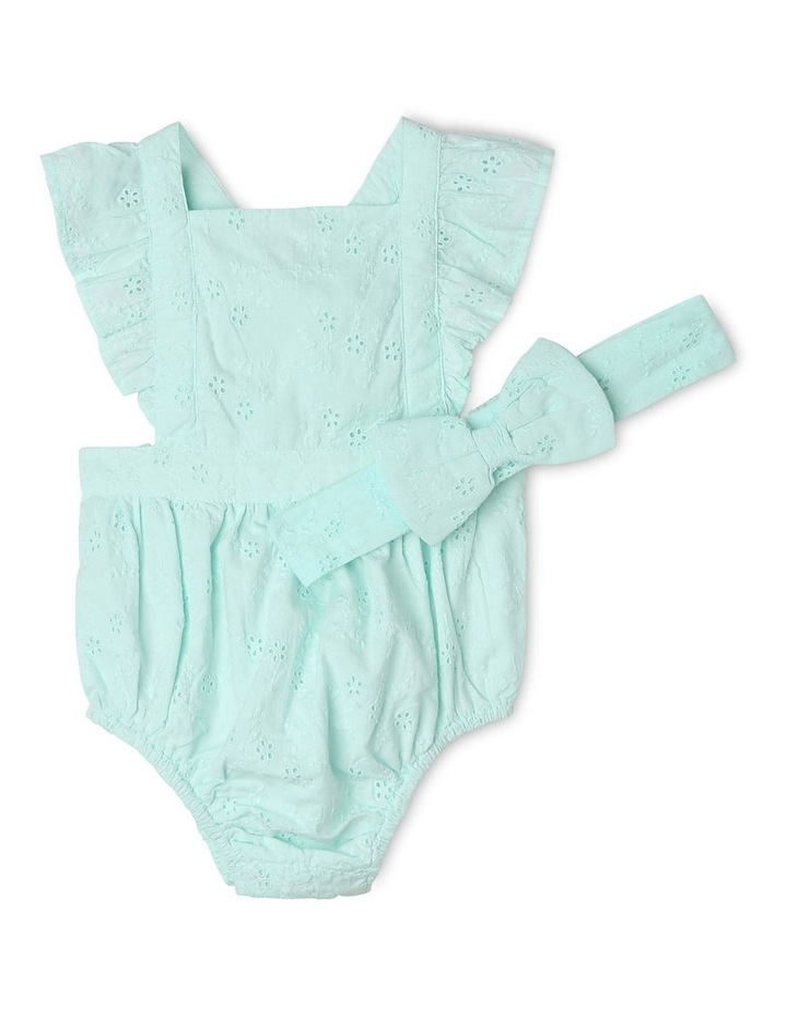 Anna Broderie Bodysuit in Mint image 1