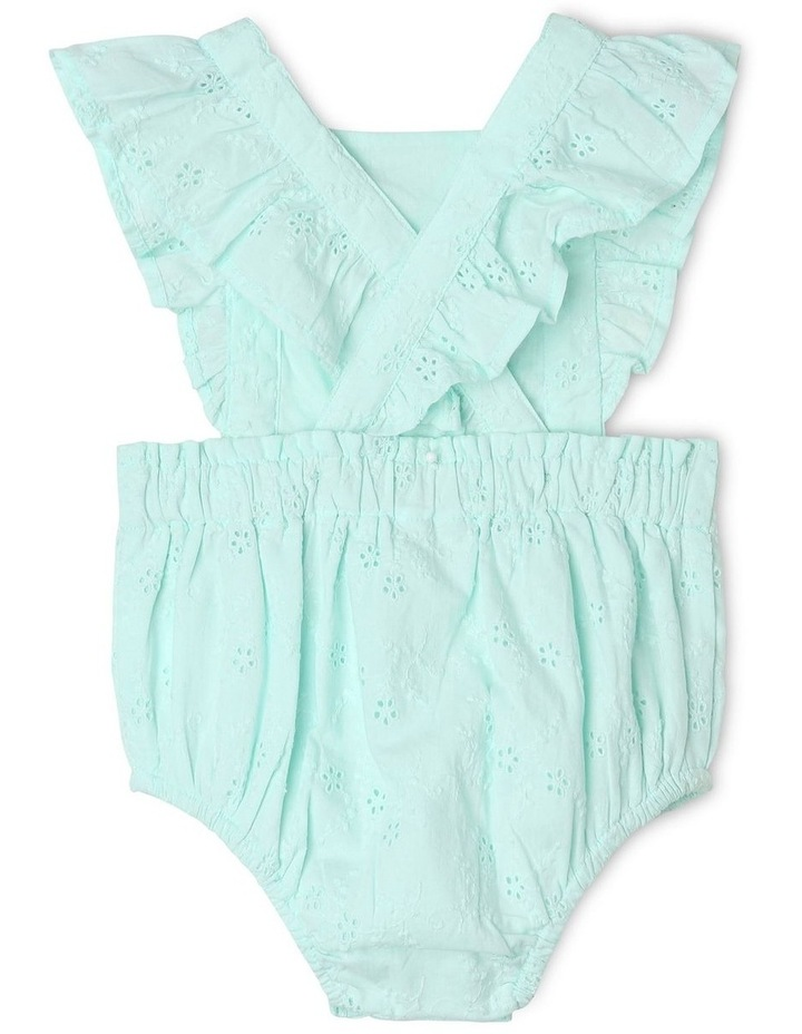 Anna Broderie Bodysuit in Mint image 3
