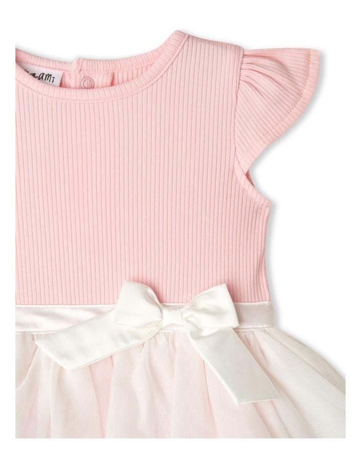 Mia Ribbed Tutu Bodysuit Light Pink image 2