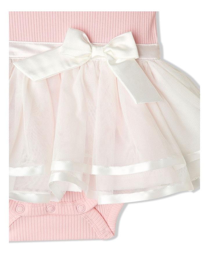 Mia Ribbed Tutu Bodysuit Light Pink image 3