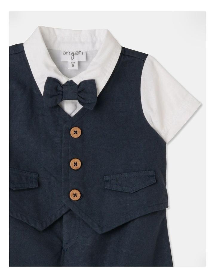 Joshua Tuxedo Romper (Size 00-1) image 2