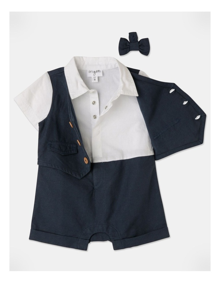 Joshua Tuxedo Romper (Size 00-1) image 4