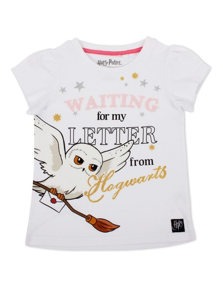 Girls Harry Potter Waiting for my Letter Sequin T-Shirt image 1