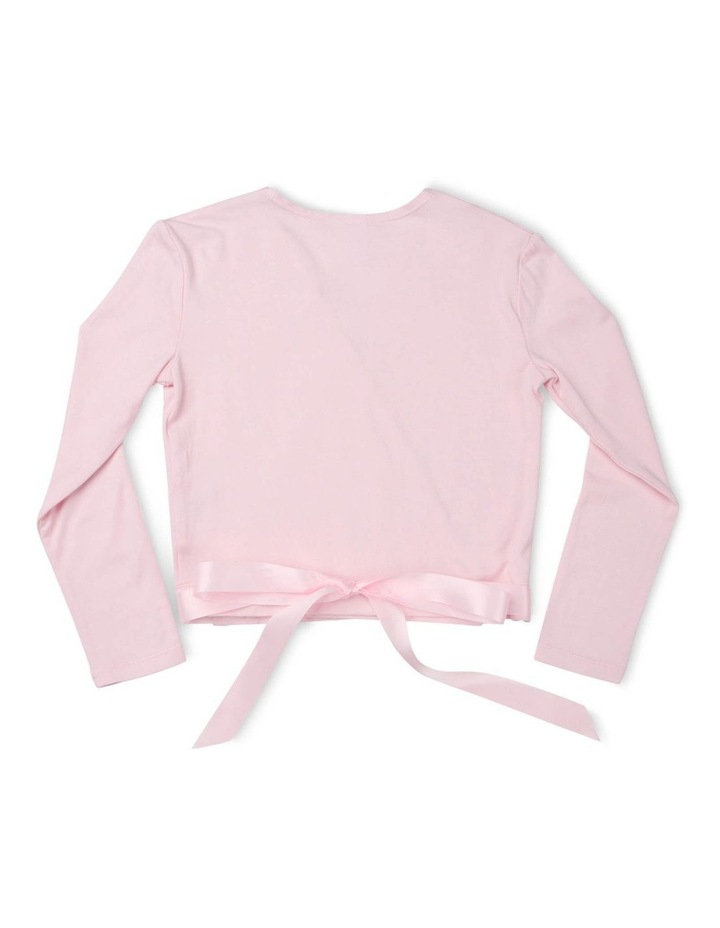 Classic Satin Tie Long Sleeve Knitwear Pink image 2