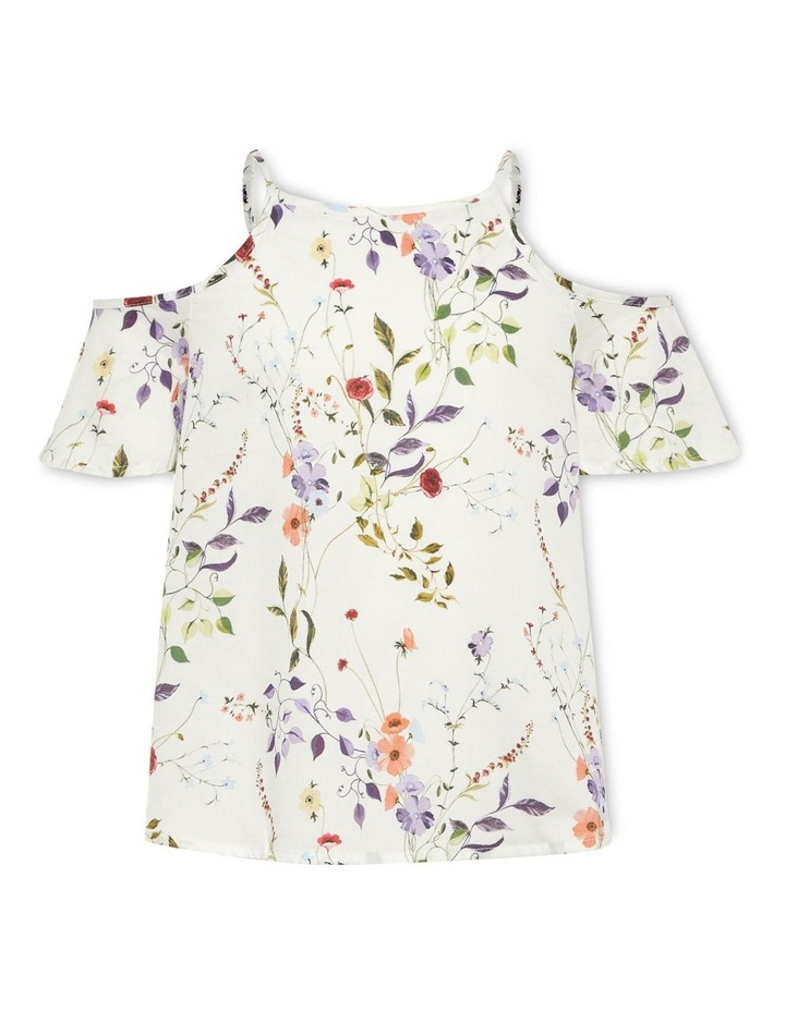 Floral Printed Short Sleeve Top image 1