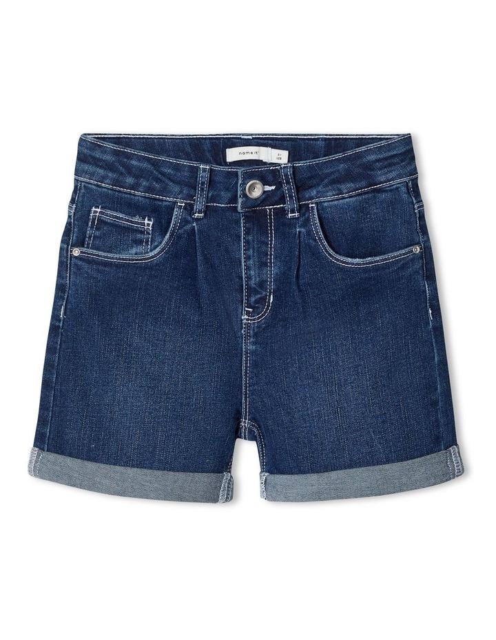 High-Waist Denim Shorts image 1