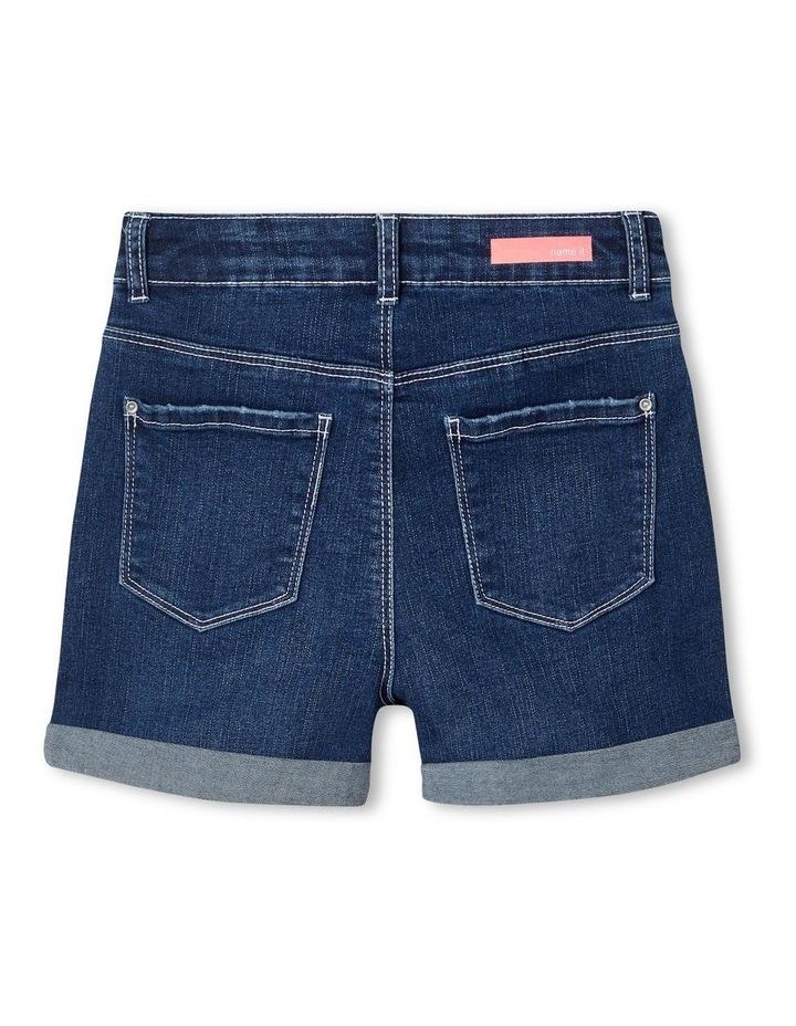 High-Waist Denim Shorts image 3