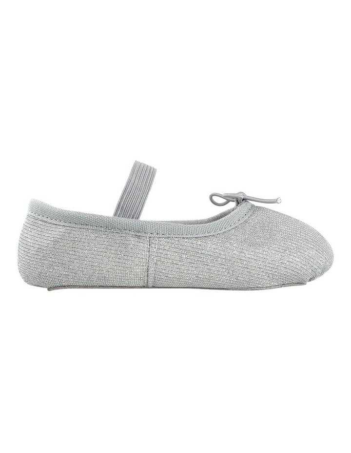 Silver Sparkle Ballet Shoe image 1