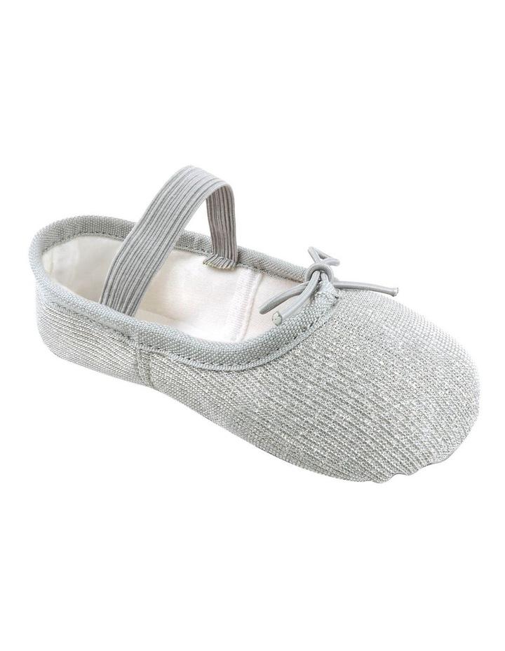Silver Sparkle Ballet Shoe image 2