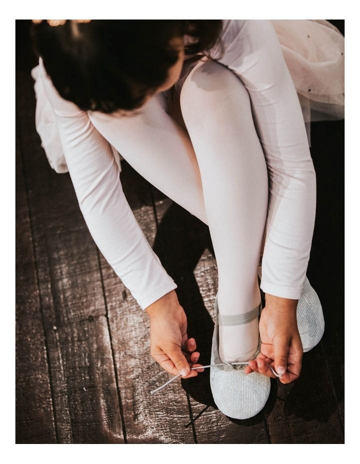Silver Sparkle Ballet Shoe image 5
