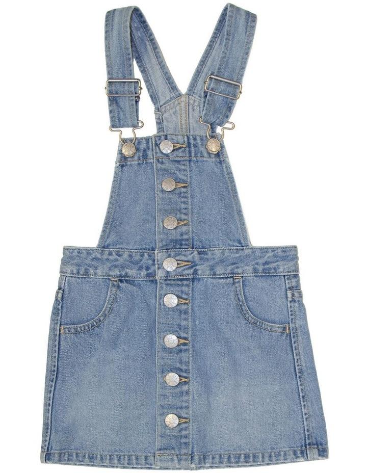 Dungaree Button Dress Summer Vintage image 1
