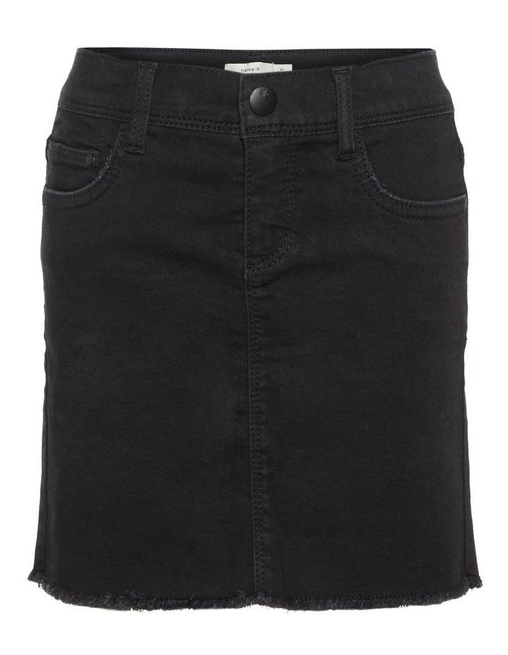 Black Denim Skirt image 1