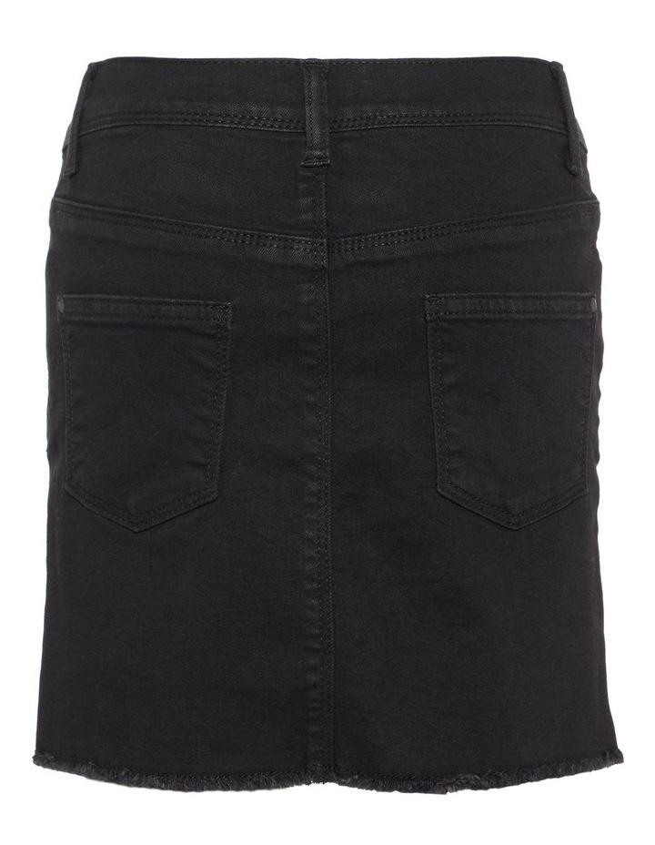 Black Denim Skirt image 2