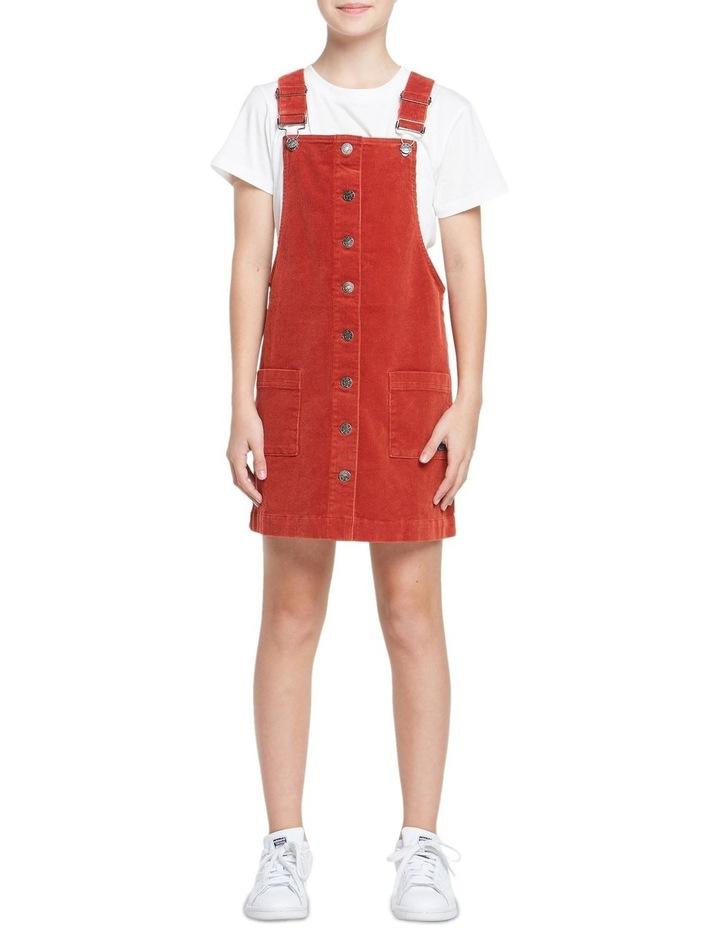 GIRLS CORD DUNGAREE DRESS image 1
