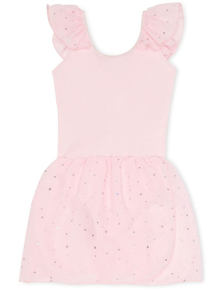 Kittie Winged Dress With Sequin Georgette Skirt Ballet Pink image 1