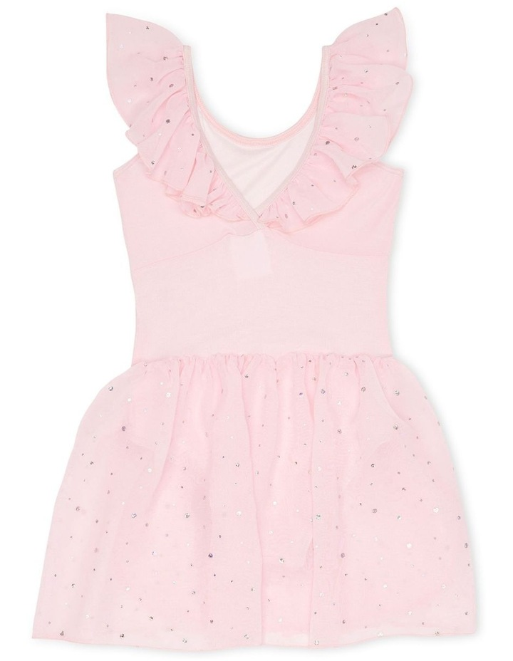 Kittie Winged Dress With Sequin Georgette Skirt Ballet Pink image 2