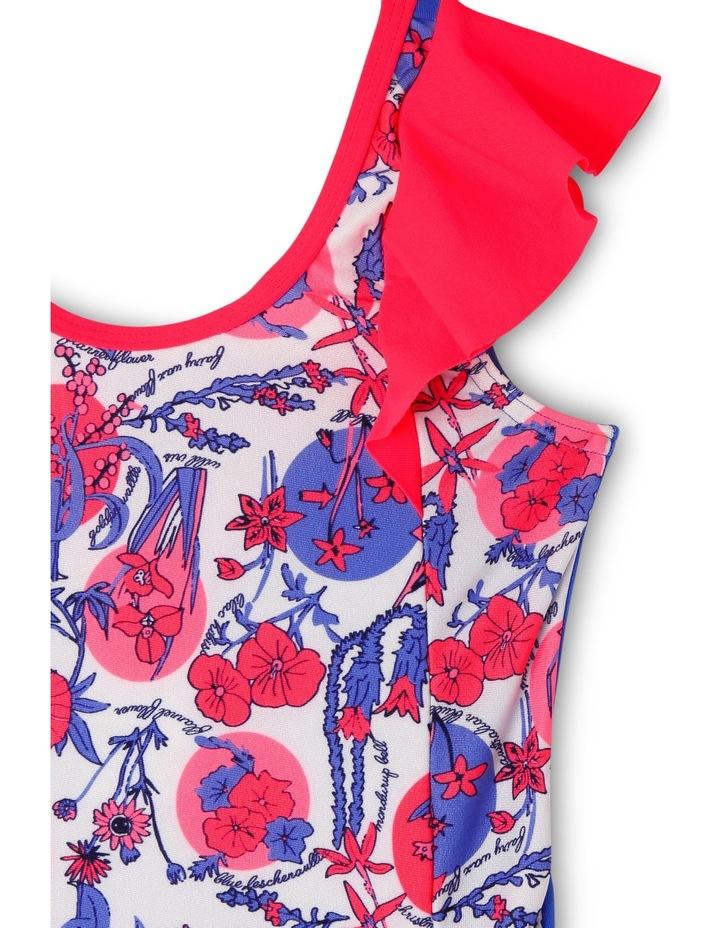 Tgrl Flora Frill Op Flora/Red Gum/Iris image 3
