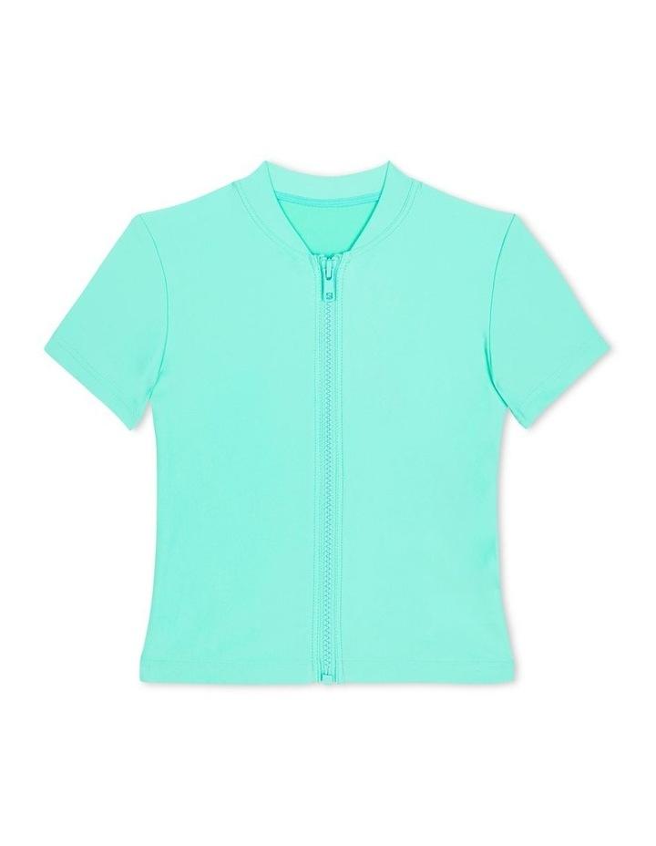 Sweet Summer Short Sleeve Zip Front Rashie image 1