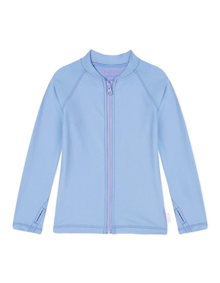 Long Sleeved Zip Front Rashie image 1