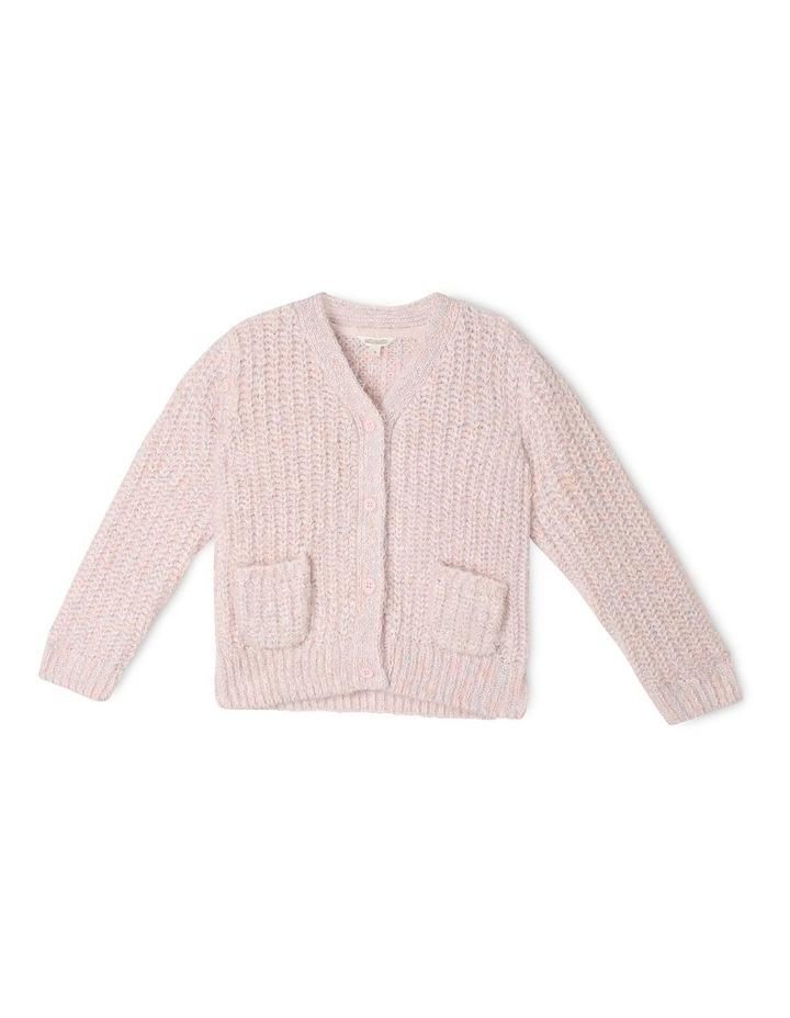 Knitted Eyelash Knit Cardigan image 1