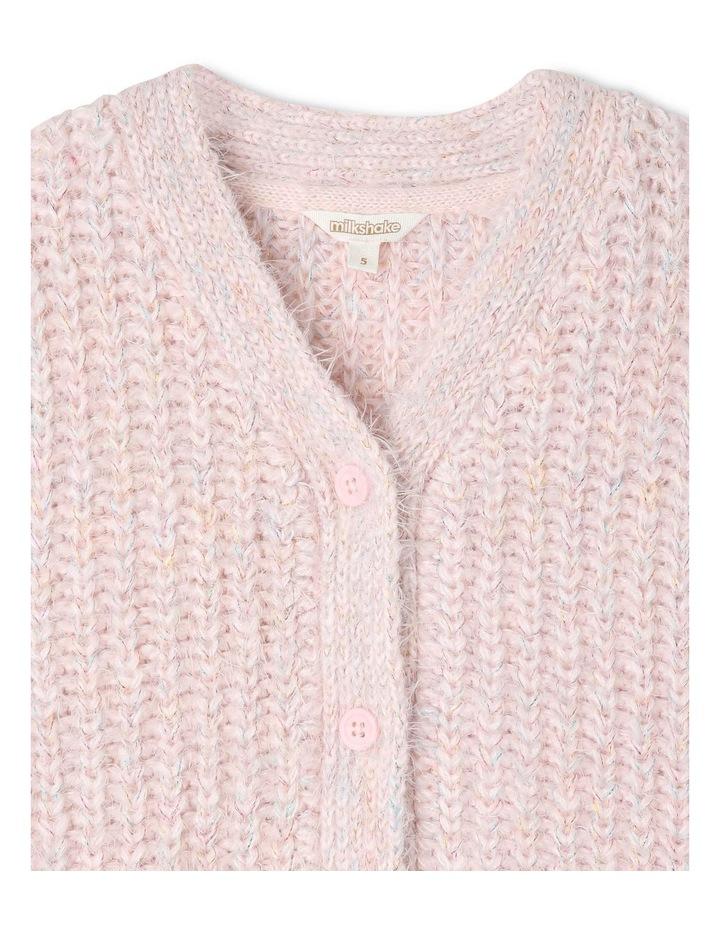Knitted Eyelash Knit Cardigan image 2