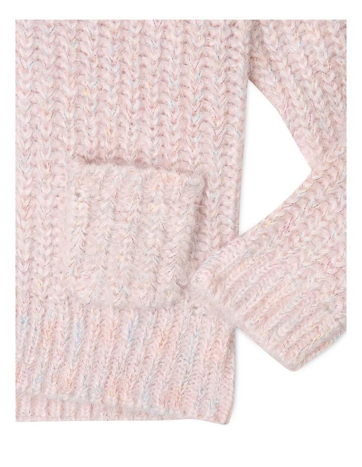 Knitted Eyelash Knit Cardigan image 3