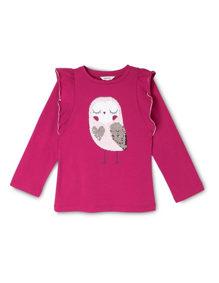 Flip Sequin Owl Big Frill Long Sleeve Tee image 1