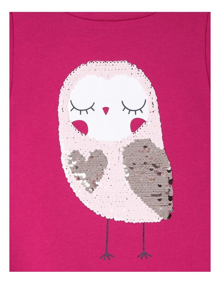 Flip Sequin Owl Big Frill Long Sleeve Tee image 2