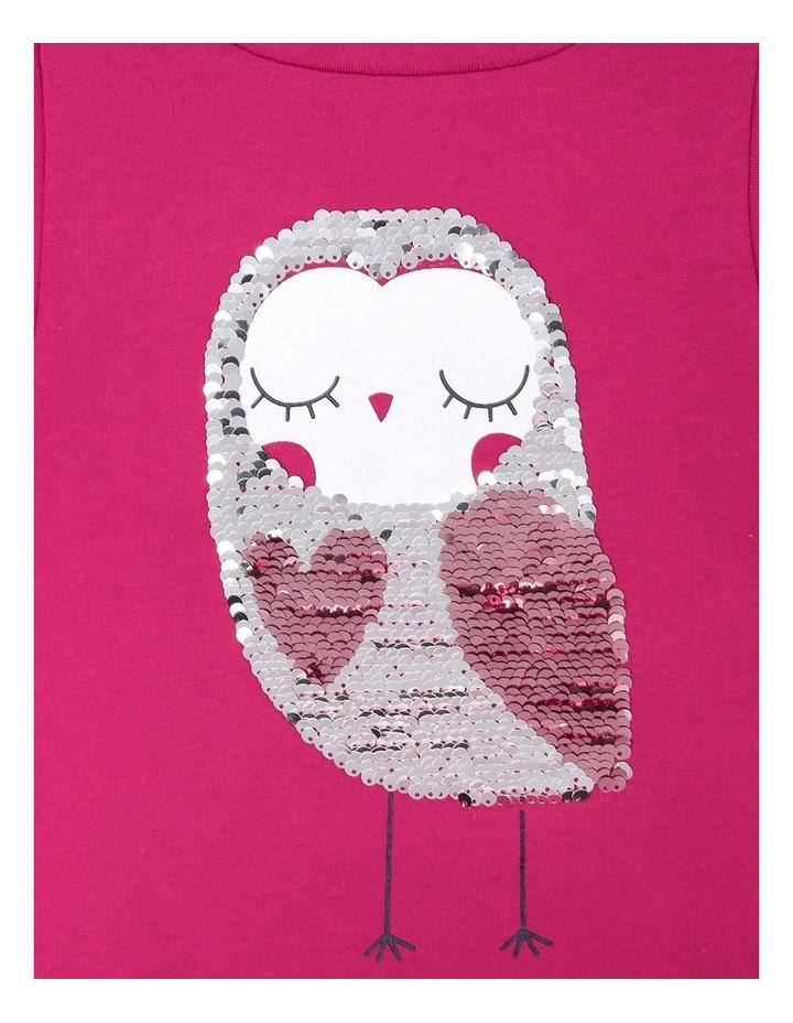Flip Sequin Owl Big Frill Long Sleeve Tee image 3