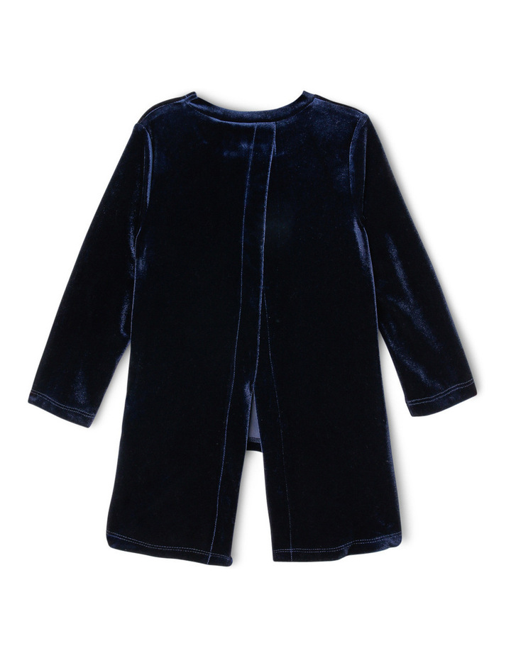 Velour Long Sleeve Knit Top with Split Back image 2