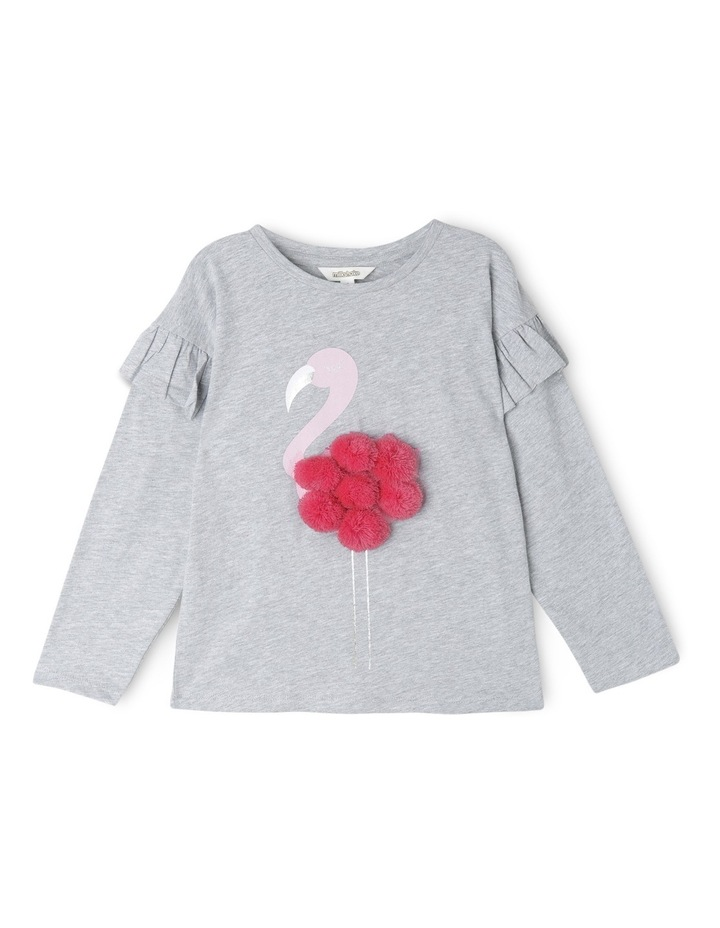 Drop Shoulder Frill Sleeve Tee image 1