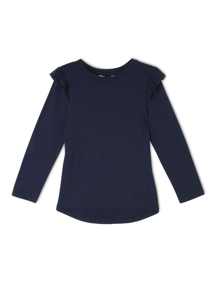 Long Sleeve Knit Frill Tee image 1