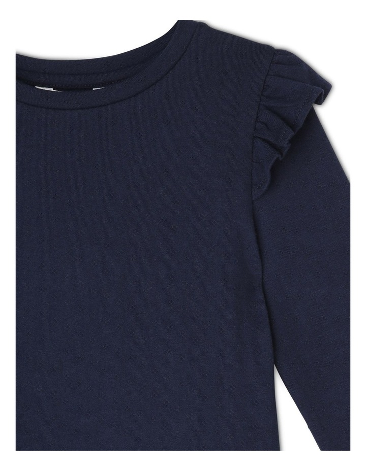 Long Sleeve Knit Frill Tee image 2