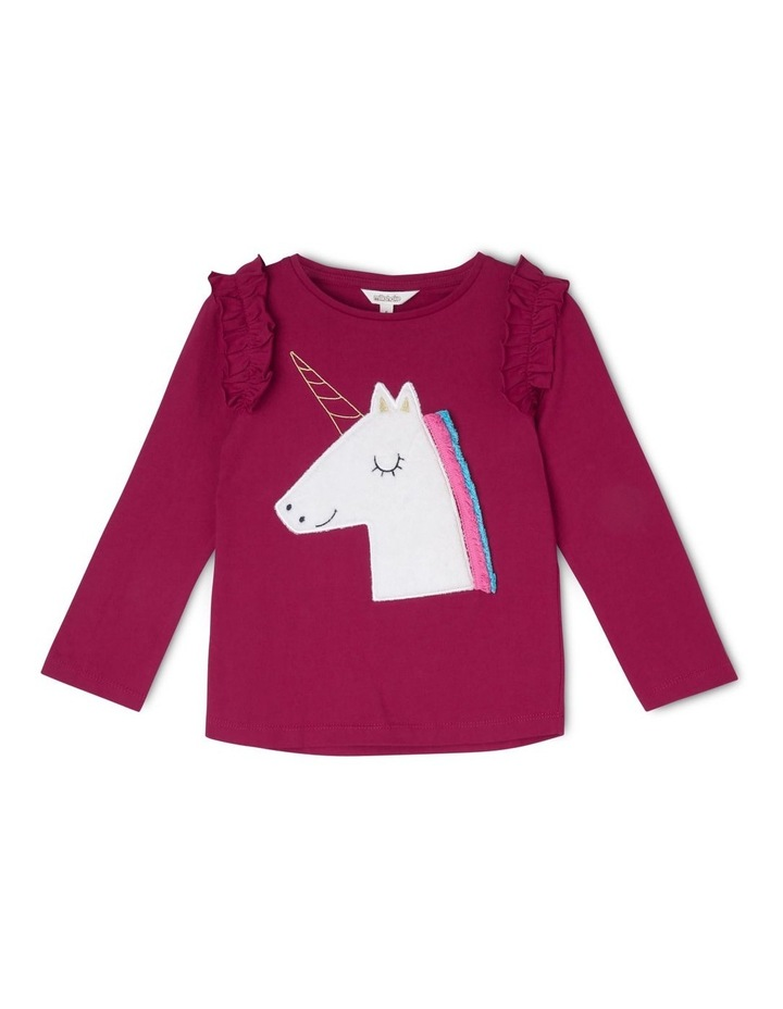 Long Sleeve Top with Shoulder Frill image 1