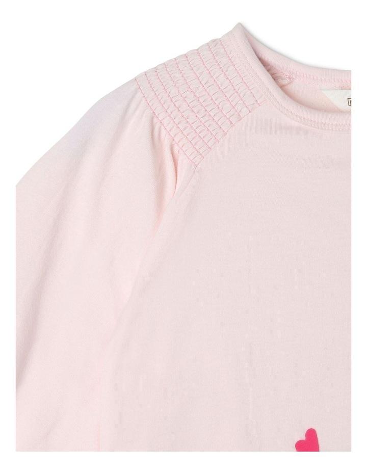 Knit Long Sleeve Shirred Shoulder Top image 3