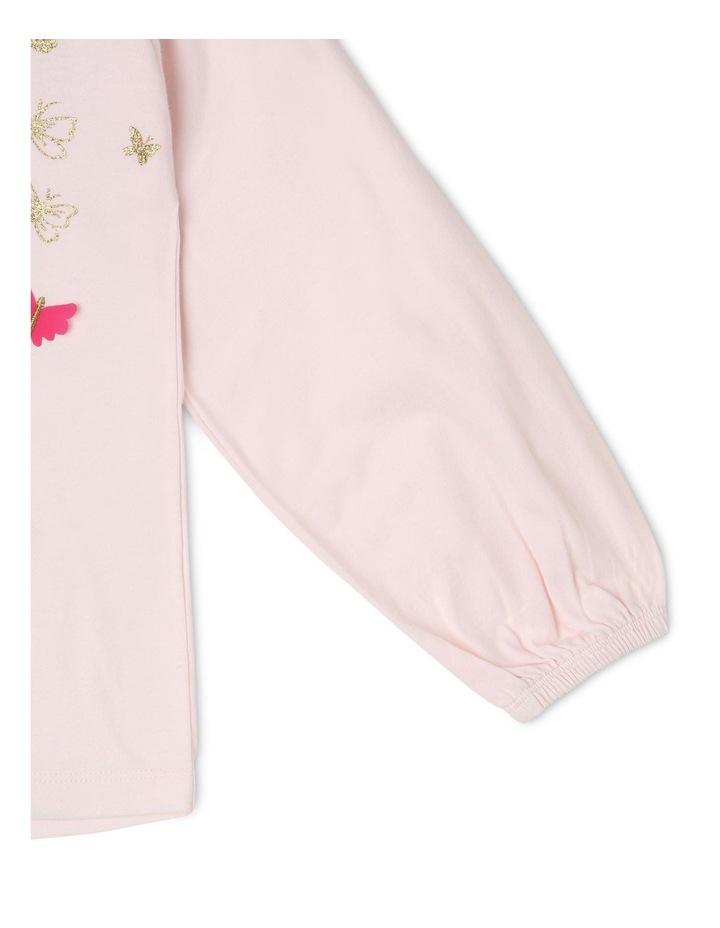 Knit Long Sleeve Shirred Shoulder Top image 4