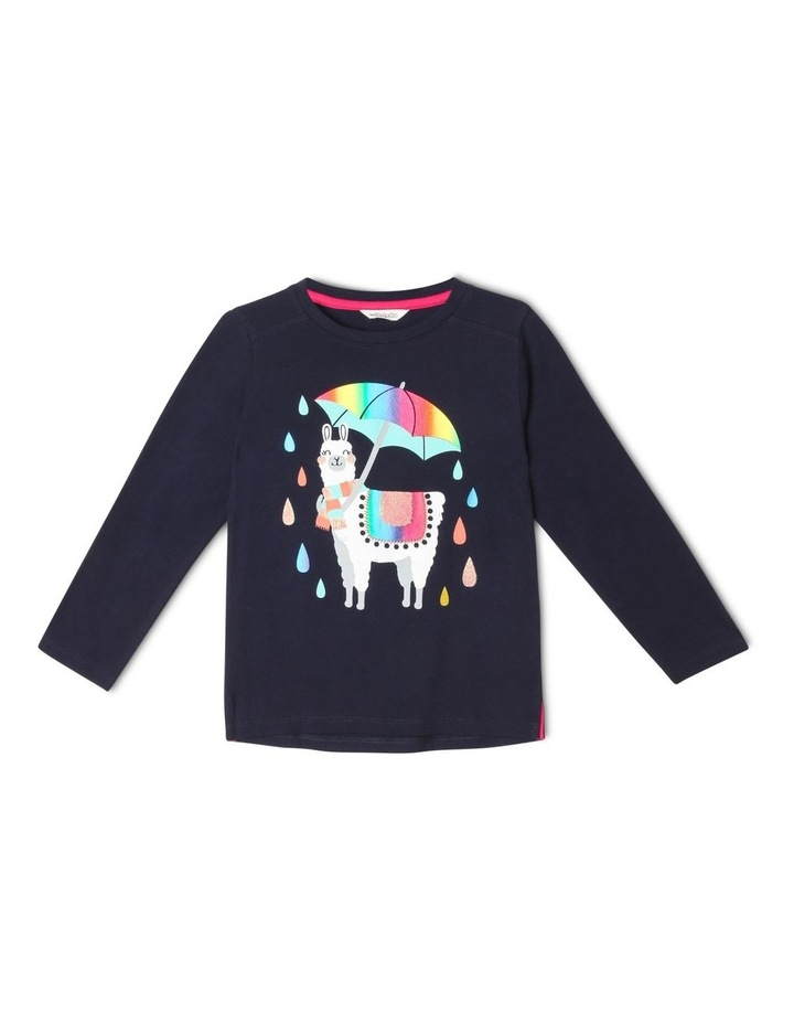 Essentials Long-Sleeve Llama Print T-Shirt image 1