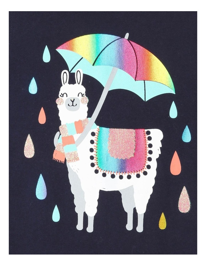Essentials Long-Sleeve Llama Print T-Shirt image 2