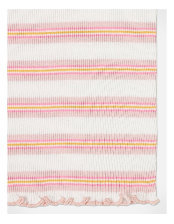 Knit Rib Stripe T-Shirt Pink image 4