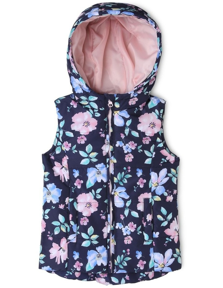Printed Puffer Vest image 1