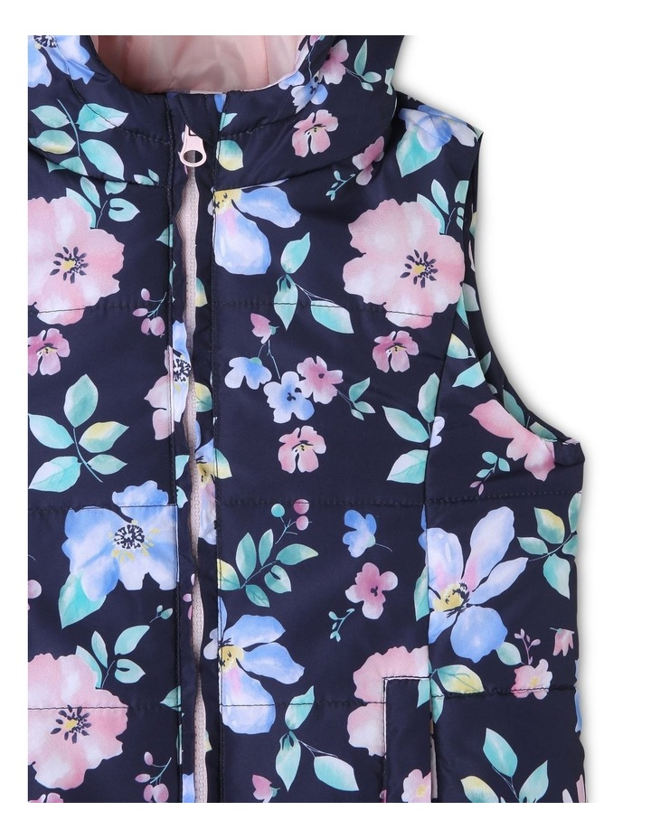 Printed Puffer Vest image 2