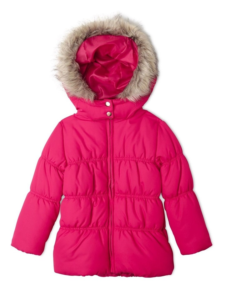 Puffer Jacket with Fur Hood image 1