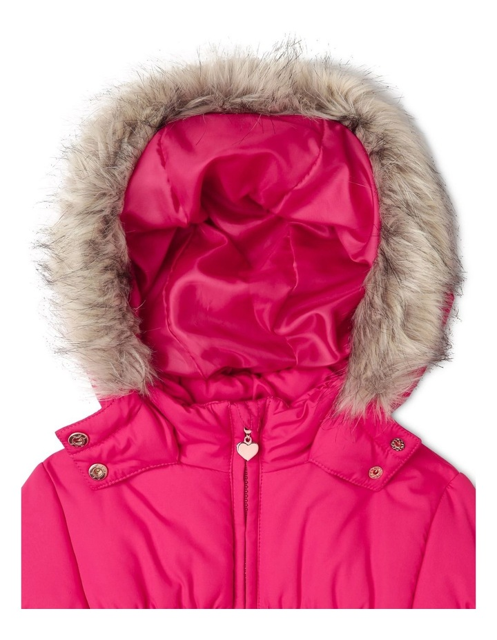 Puffer Jacket with Fur Hood image 2