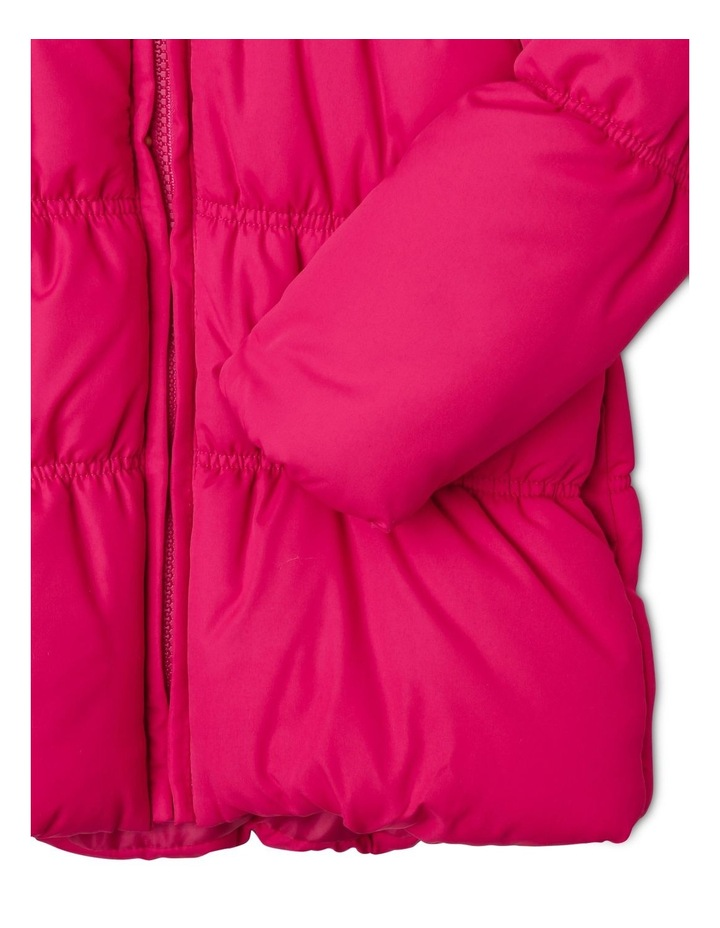 Puffer Jacket with Fur Hood image 4