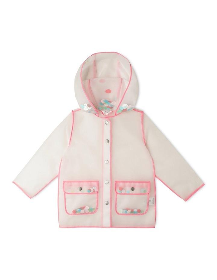 Hooded Clear Glitter Raincoat image 1
