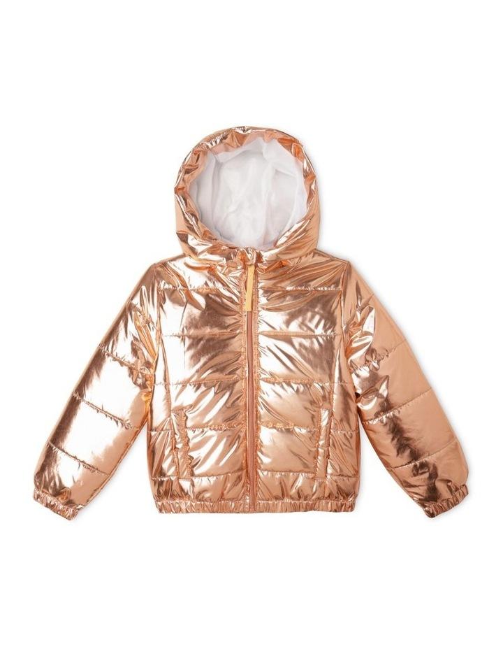Hooded Puffa Jacket With Welt Pockets image 1