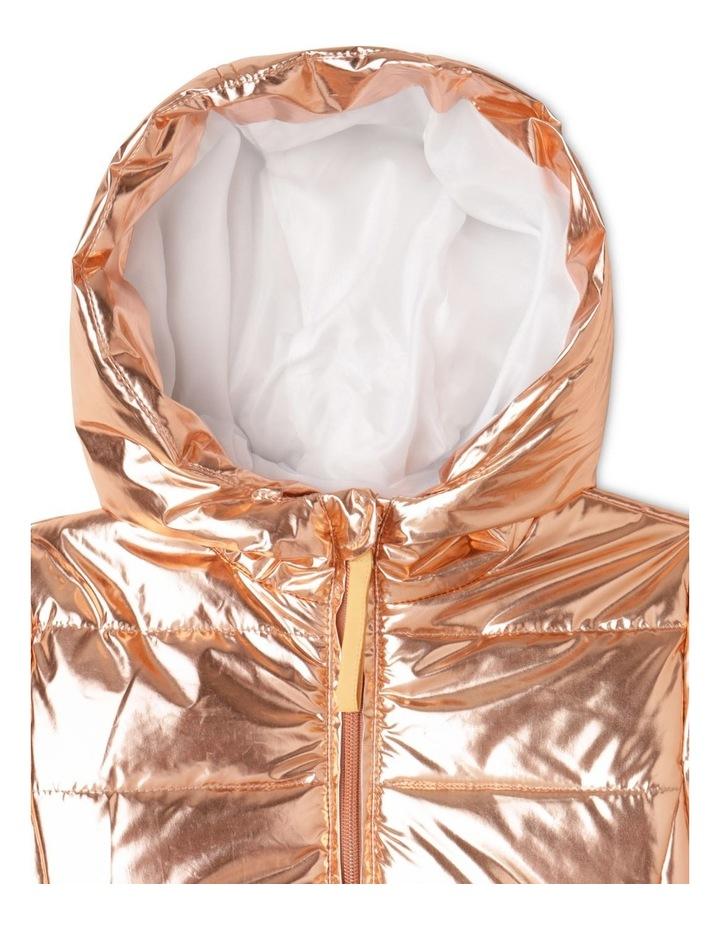 Hooded Puffa Jacket With Welt Pockets image 2