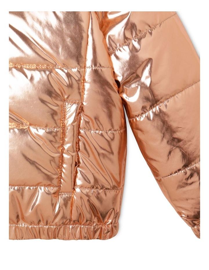 Hooded Puffa Jacket With Welt Pockets image 4